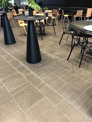 UniSA Health and Innovation - indoor terrazzo tiles