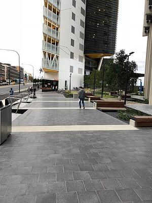 UniSA Health and Innovation - outdoor terrazzo tiles